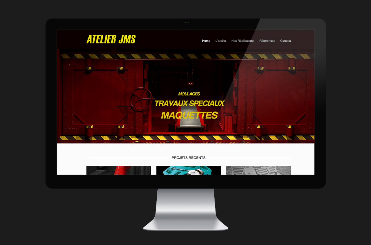 Atelier JMS website desktop