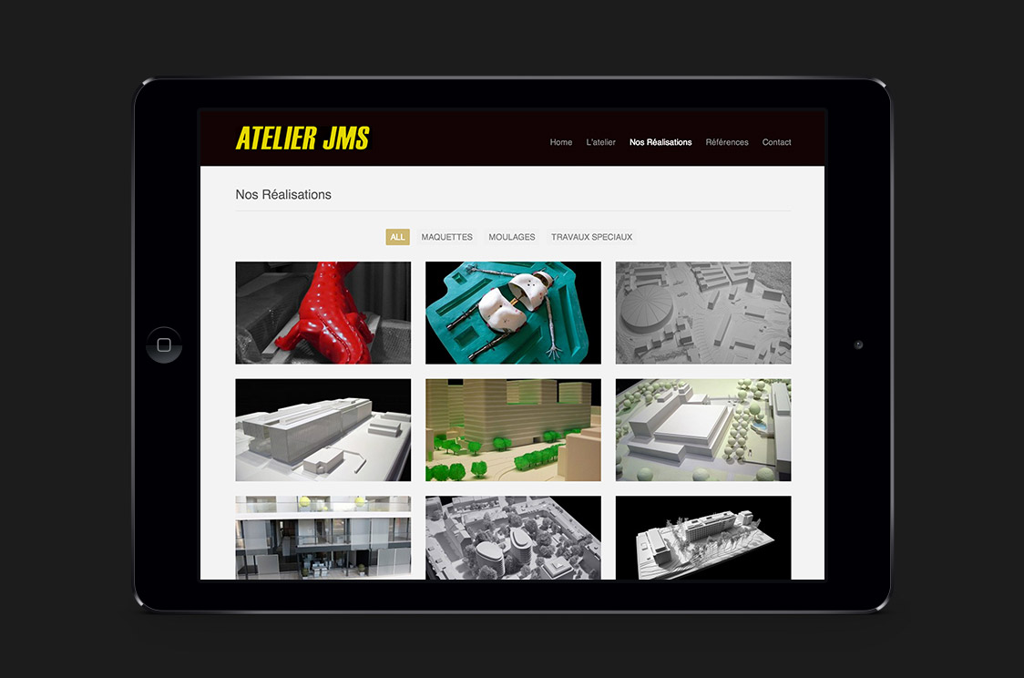 Atelier JMS website tablet